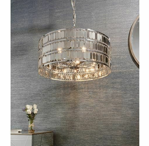 Eldora 5lt Chrome Plated pendant light